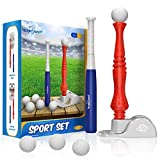 T-Ball Set for Toddlers, Kids Baseball Tee Game Includes 6 Balls - Adjustable T Height, Fun Toddler t Ball Set Adapts with Your Child's Growth Spurts, Improves Batting Skills for Boys &Girls