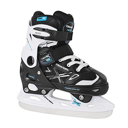 TEMPISH Jungen NEO-X Ice Größenverstellbare Eishockey, Kinder-Schlittschuhe, Black, 29-32