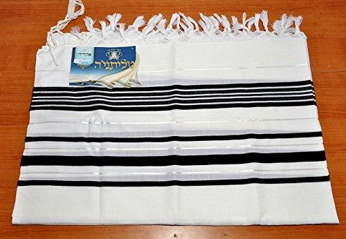 Talitnia Acryl Tallit Schal Schwarz & Weiß Modell 45