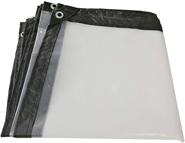 HCYTPL Bache Transparente épaississant Bordures Plastique poreux bache imperméable fenêtre Balcon Culture de Serre Film -100g   m2,5X8m