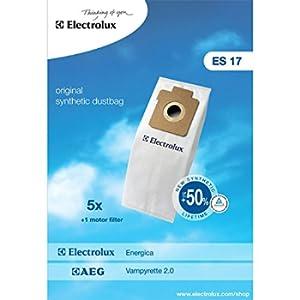 Electrolux 900256339 Es17 Sacco Sintetico per Energica, 1 Filtro Motore