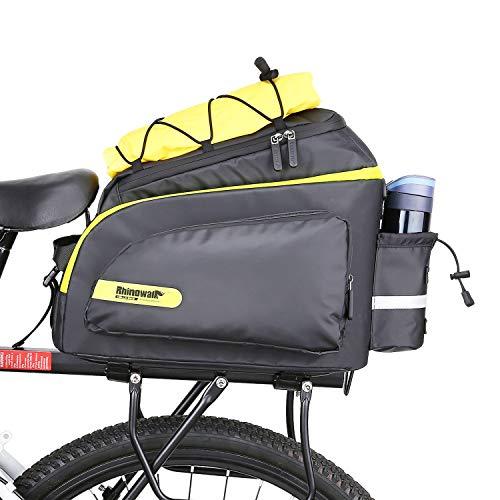 Rhinowalk Borsa Posteriore Bici, Pannier Bike Bag, Borse Multi Funzione per Rastrelliera Portapacchi da Bici, Impermeabile Portapacchi Bagagli Borsa per Il Viaggio in Bicicletta (Verde)