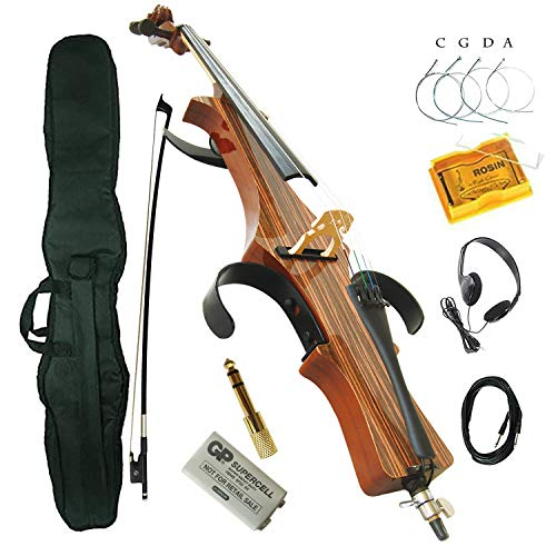 Aliyes Professional Handmade Solid Wood Electric Cello 4/4 Full Size Silent Electric Cello With bow, Case,Bridge Strings-DSDSN1808