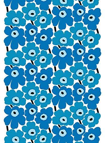 Marimekko PIENI UNIKKO 2 Cotton Fabric White,Blue