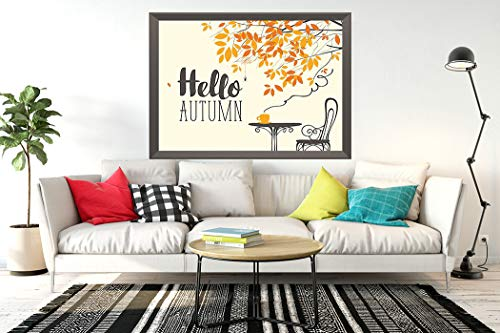 Abihuu Hello Autumn 5D Diamond Painting by Number Kits, Landscape in Retro on The Autumn Theme Hello Autumn Diamond Art Cross Stitch Full Drill Canvas for Home Wall Decor 16 x 20 Inch