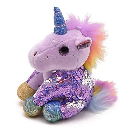 Jellycat conejo gris llavero de niffler cxjff 10cm lentejuelas unicornio, unicornio felpa linda...