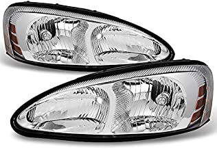 For 2004 2005 2006 2007 2008 Pontiac Grand Prix Left + Right Head Lights Head Lamps Replacement Pair Set