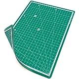 PRETEX Base de Corte doble cara, 30 x 22 cm (A4) en Verde con Superficie auto...