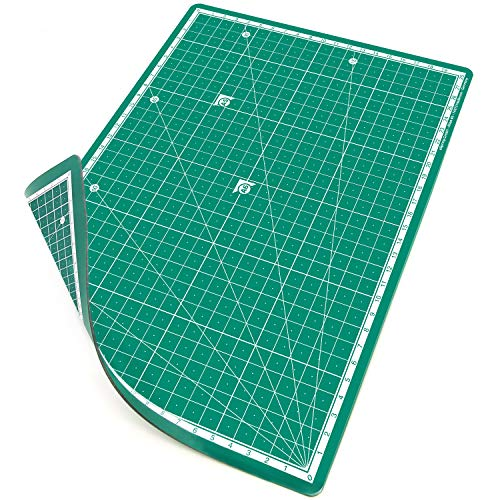 PRETEX Base de Corte doble cara, 30 x 22 cm (A4) en Verde con Superficie autoreparativa, autocurativa   Cutting Mat, Tabla de Cortar