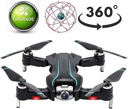 ZGYQGOO HD Live Video GPS, Drone avec Appareil Photo, avec Batterie 1200Mah intégrée 18 Minutes Temps vol, Maintien l'altituRC gyro à 4 Axes, Drone à 360 °, mosans tête Longue portée, Noir