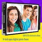 FOOSKOO Digitaler Rahmen,8 Zoll Offen Digital Picture Fram LCD-Bildschirm Mit LED-Hintergrundbeleuchtung Digitaler Bilderrahmen Embedded Multimedia-Werbemaschine Digital Frame Werbung Fotoalbum-Displa