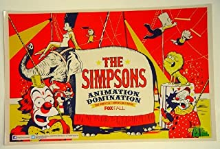 The Simpsons Animation Domination Poster 11 x 17 inches Circus Themed