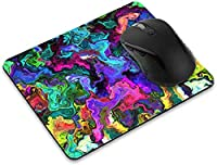滑り止め長方形マウスパッドたっての熱 ホームオフィスとゲームデスク用のゼブラフラワーマウスパッド-MixedOilPaint(S1)