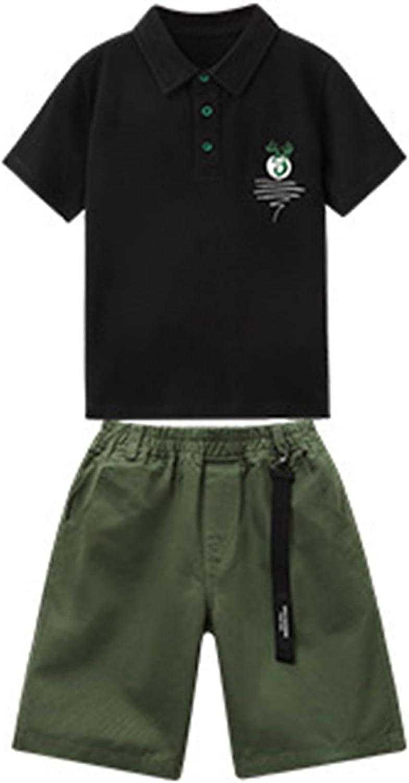 Freebily Kids Boys favorite Summer Casual San Francisco Mall Tops Short Sleeve Lapel Outfits