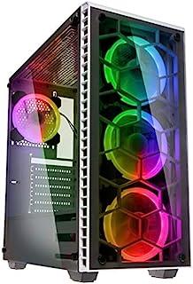 Kolink Observatory RGB Midi-Tower Funda para computadora - Vidrio Templado - Ventana - Blanco