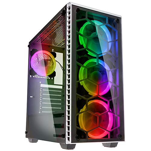 Kolink Observatory RGB Midi-Tower, Tempered Glass - weiß Window