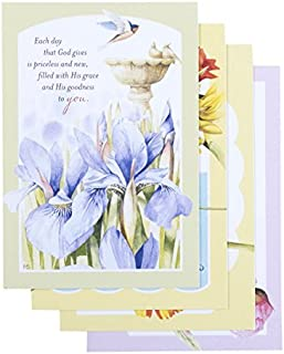 DaySpring Birthday Boxed Greeting Cards w Embossed Envelopes - Blessings Marjolein Bastin, 12 Count (51755) by Dayspring