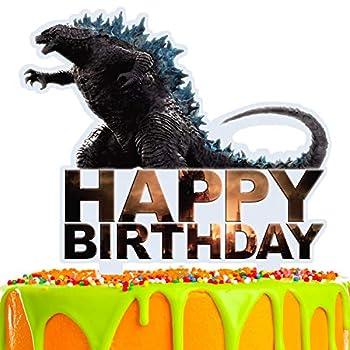 Happy Birthday Dinosaur Cake Topper Acrylic Decor Dino Jungle Jurassic Theme Picks for Baby Shower Birthday Party Decorations Supplies