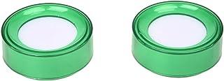 SODIAL(R) 2 piezas de Esponja de mojado de dedo para dinero cajero plastico verde de 7 cm de diametro