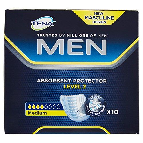 Tena Livello 2 Assorbente protettivo per lincontinenza, Uomo, Confezione da 10 pezzi