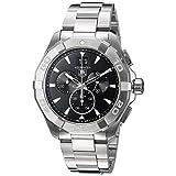 TAG Heuer Men's 43mm Steel Bracelet & Case S. Sapphire Quartz Black Dial Chronograph Watch CAY1110.BA0927