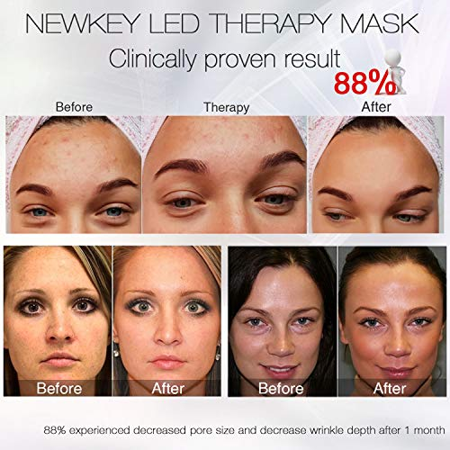NEWKEY Led Light Therapy 7 Color Facial Skin Care Mask