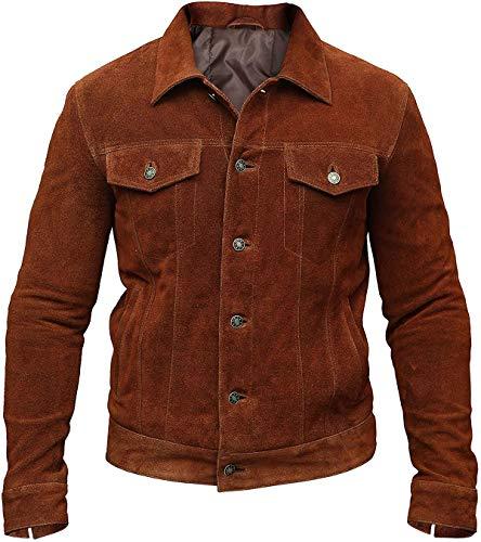 X-Men 2017 Logan Hugh Jackman Wolverine Brown Suede Leather Jacket