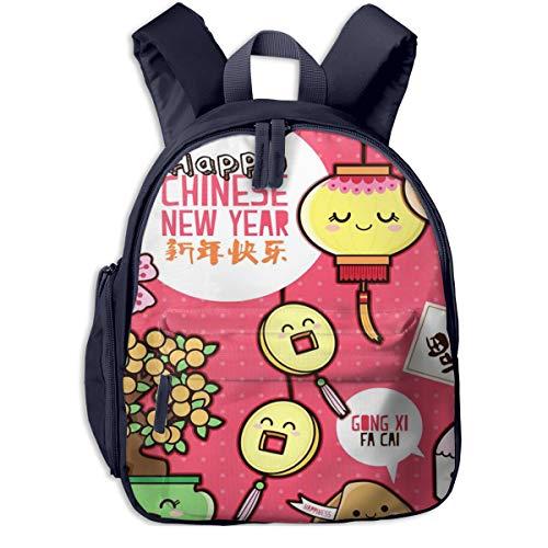 Kinderrucksack Kleinkind Jungen Mädchen Kindergartentasche Orange Keks Neujahr Backpack Schultasche Rucksack