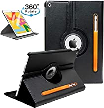 "ProElite Smart Case for iPad 7th Generation 10.2"" 2019, 360 Degree Rotating Stand Leather Protective Cover, Smart Swivel Case with Auto Sleep/Wake & Pencil Holder"