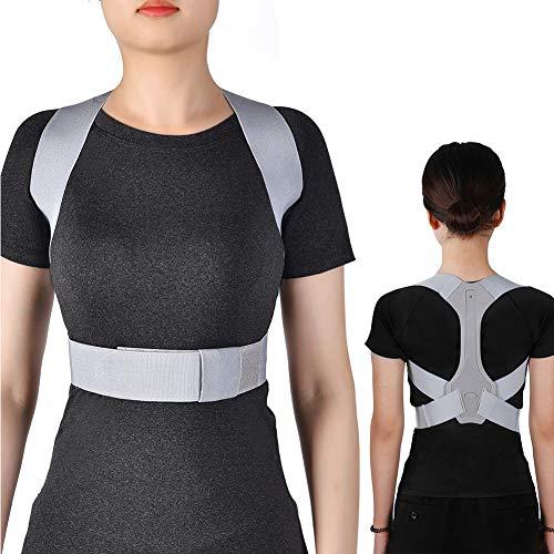 Filfeel Corrección de Postura,El Soporte para la Espalda Alivia el Dolor de Espalda, el Tablero de PE y el Estiramiento de algodón EVA elástico, diseño de Hebilla(M)