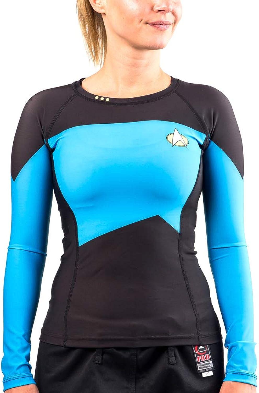 Fusion Fight Gear Star Trek The Next Generation bluee Women's Compression Shirt Rash Guard