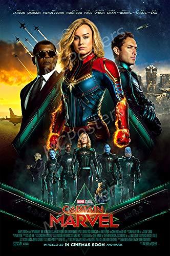 MCPosters - Marvel Captain Marvel 2019 Glossy Finish Movie Poster - MCP893 (24' x 36' (61cm x 91.5cm))