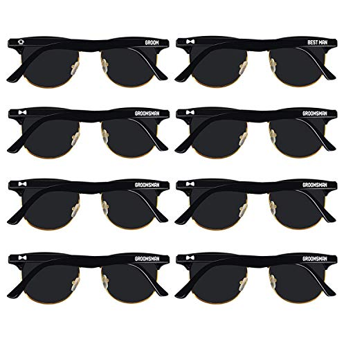 Bachelor Party Supplies 8PCS Bachelor Sunglasses for Groom, Best Man, Groomsmen
