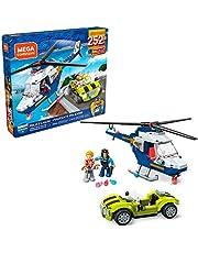 Mega Construx GLK55 - policyjny helikopter i figura (252 sztuki), zabawka od 5 lat