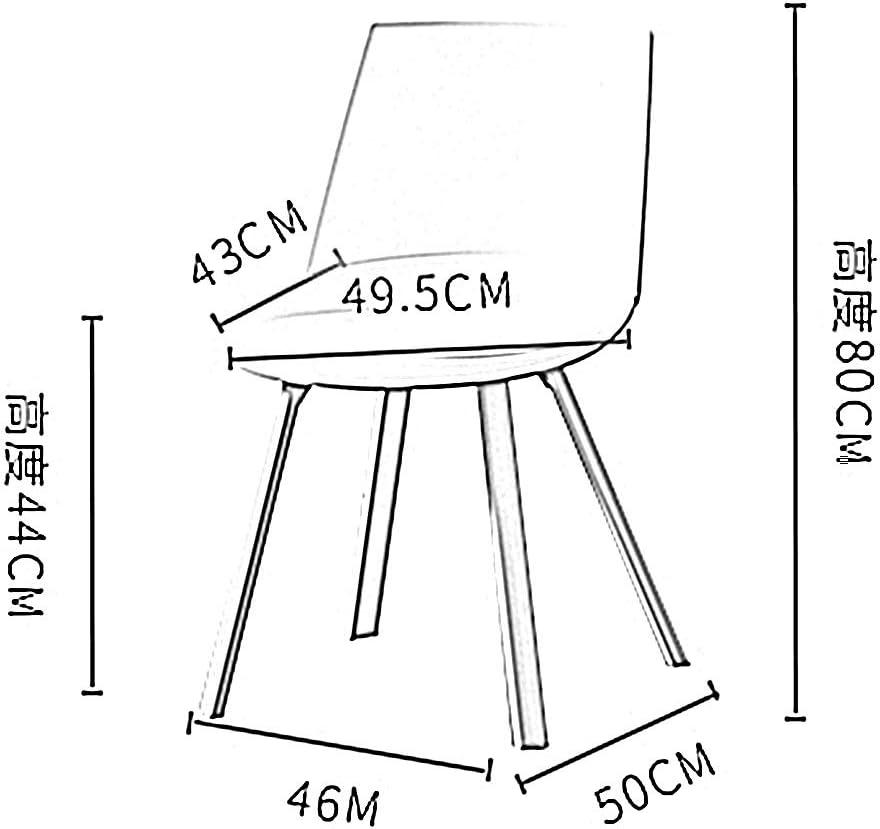 LJFYXZ Chaises Salle Manger Chaise d'appoint en plastique de style moderne avec Mid Century Sans bras Chaises de Salon et de Chambre (Color : Blue) Pink