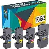 Do it Wiser Compatible Toner Cartridge Replacement for TK-5242 Kyocera Ecosys M5526cdw P5026cdw P5026cdn M5526cdn   TK-5242K TK-5242C TK-5242M TK-5242Y (4 Pack)