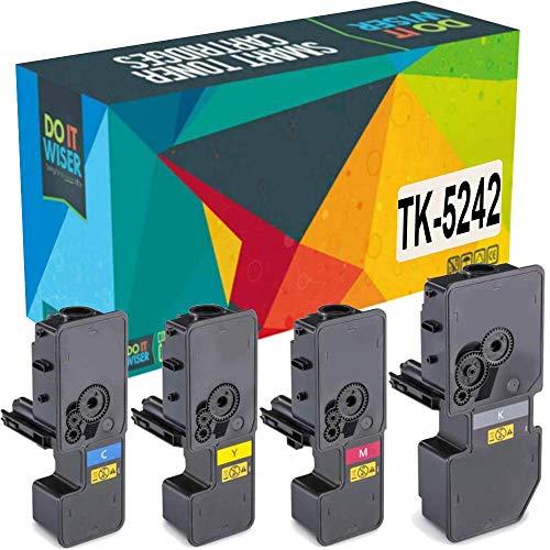Do it Wiser Compatible Toner Cartridge Replacement for TK-5242 Kyocera Ecosys M5526cdw P5026cdw P5026cdn M5526cdn | TK-5242K TK-5242C TK-5242M TK-5242Y (4 Pack)