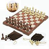 FAFAFA Torneo Junta magnética portátil de Viaje Juego de ajedrez Ajedrez Doblado Junta Juego de ajedrez magnético Internacional Que juegan los Juguetes