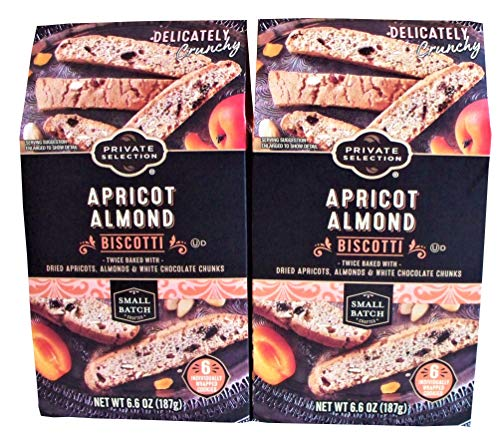 Private Selection Apricot Almond Biscotti Cookies Twice Baked with Dried Apricots, Almonds & White Chocolate Chunks