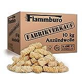 FLAMMBURO (10 kg) Öko-Anzündwolle, Holzwolle, zertifizierter Holz-Ursprung, FSC®-zertifiziertes...