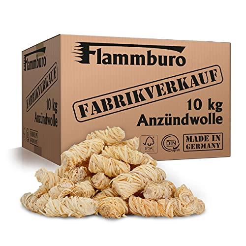 FLAMMBURO (10 kg) Öko-Anzündwolle...