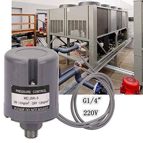 Druckschalter,Pressure Switch G1/4 Zoll Außengewinde Universeller automatischer mechanischer Wasserpumpendruckschalter (1.0-1.8 kgf / cm2),Wasserpumpe Druckschalter mechanische Druckregler