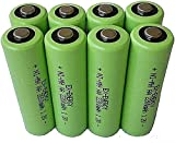 AA 1 2V 2200mAh LSD Button top NiMH Rechargeable Batteries 8 Pack
