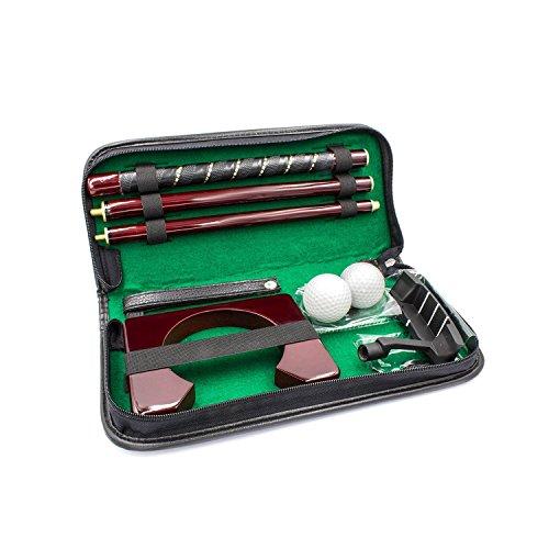 Posma, kit componibile per mazza da golf in legno per tiro putting, con 2 palline da golf e buca per putting