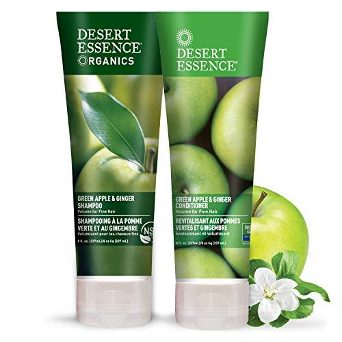 Desert Essence - Shampooing et Revitalisant à la Pomme Verte et au Gingembre - Pack duo - 2 x 237mL