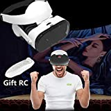 Virtual Reality Headset, 3D VR Glasses with 3D Headphones & Gift Remote for Android/iOS, VR Headset for Samsung Galaxy S8 S7 S6 Edge Note 8 5, iPhone X 8 7 6 6S Plus & Other 4.0-6.4' Cellphones