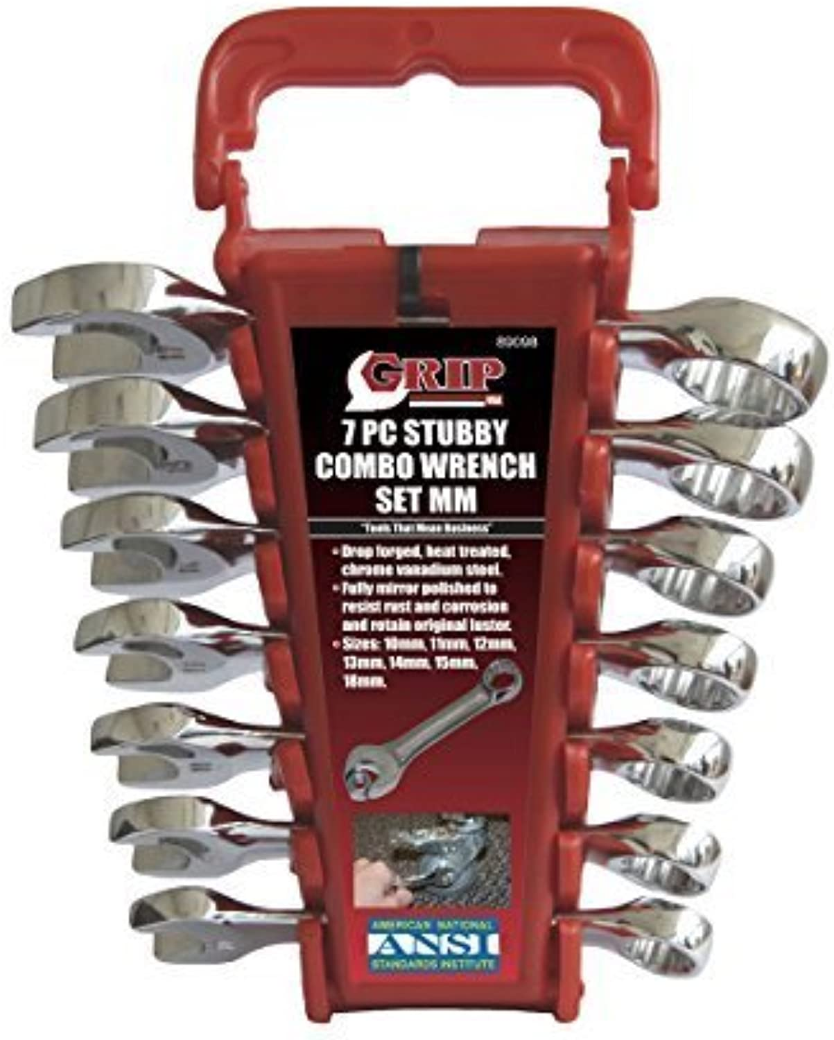 GRIP 89098 Stubby Combo Combo Combo Wrench Set, mm, 7-Piece by GRIP (GRAND RAPIDS INDUSTRIAL PRODUCTS) B0186M4L62   Am praktischsten  16857c