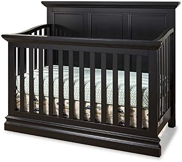 Westwood Design Pine Ridge 4 In 1 Panel Convertible Crib Black