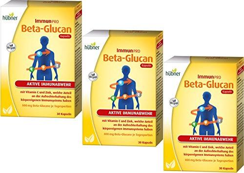 3 x immuunPro Beta-gluca, 30 kps.