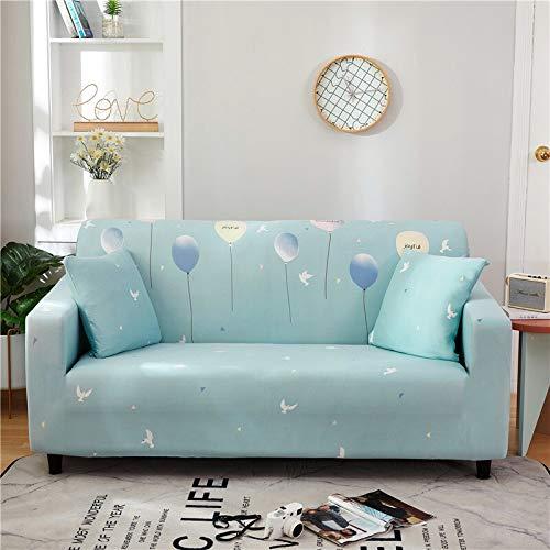 WXQY Funda de sofá Floral de poliéster, Funda de sofá retráctil para Sala de Estar, Funda de sofá elástica, Funda de Silla, sofá, Toalla, Funda de sofá A14, 4 plazas